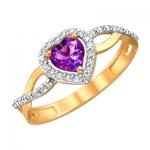 Кольцо из золота с топазами 01К3110972-1