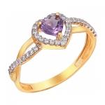 Кольцо из золота с аметистом 01К3110972-2