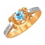 Кольцо из золота с топазами 01К3110971-1