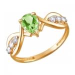 Кольцо из золота с хризолитом 01К3110970-4
