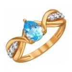 Кольцо из золота с топазами 01К3110970-1