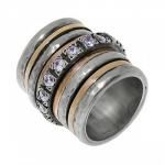 Кольцо Антистресс из серебра Deno SNR500CZ