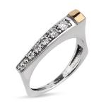 Серебряное кольцо Yaffo с золотом SAR1230