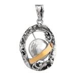 Серебряный кулон Yaffo с жемчугом и золотом SAP1222