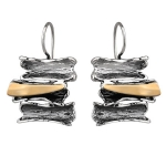 Серебряные серьги Yaffo с золотом SAE1218