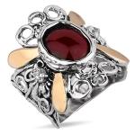 Серебряное кольцо Yaffo с гранатом SAR1209