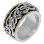 Кольцо Антистресс Deno из серебра SNR4259CZ