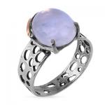 Серебряное кольцо Yaffo с золотом и дунным камнем SAR300MS