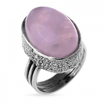 Серебряное кольцо Yaffo с розовым кварцем SAR262RQ