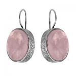 еребряные серьги Yaffo с розовым кварцем SAE261RQ