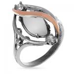Серебряное кольцо Yaffo с золотом и лунным камнем SAR246MS