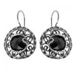 Серебряное кольцо Yaffo с черным фианитом SAE050-1
