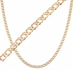 Золотая цепочка плетения Двойной Ромб