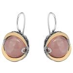 Серебряные серьги Yaffo с розовым кварцем SAE648RQ