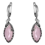 Серебряные серьги Yaffo с розовым кварцем SAE540PQ