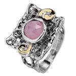 Серебряное кольцо Yaffo с розовым кварцем SAR638RQ