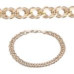 Золотой браслет Двойной Ромб M0000072699
