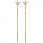 Серьги-протяжки золотые с фианитами 01С136164