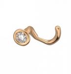 Пирсинг в нос из золота с бриллиантом 01И610088