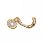 Пирсинг в нос из золота с бриллиантом 01И630088