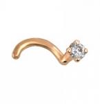 Пирсинг в нос из золота с бриллиантом 01И610087