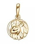 Подвеска Знаки Зодиака Лев золото 01Д0110808
