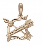 Подвеска Знаки Зодиака Стрелец золото 01Д0110912