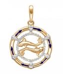 Подвеска Знаки Зодиака Рыбы золото 01Д0110503ЭР