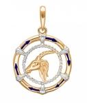 Подвеска Знаки Зодиака Козерог золото 01Д0110501ЭР