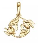 одвеска Знаки Зодиака Рыбы золото 01Д0110803