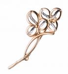 Золотая брошь Цветок M0000060570