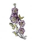 Серебряная брошь Полевые цветы M0000062298