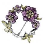 Серебряная брошь Цветы M0000062307
