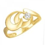 Золотое кольцо с фианитами 01К1312313Р