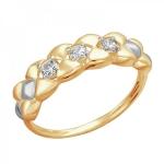 Золотое кольцо с фианитами 01К1112329Р