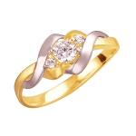 Золотое кольцо с фианитами 01К1112308Р