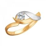 Кольцо из золота с фианитами 01К1112306Р