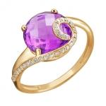 Золотое кольцо с аметистом 01К3112164Р-2