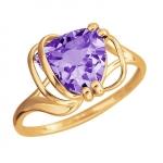 Золотое кольцо с аметистом 01К3112170-3