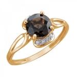 Золотое кольцо с раух-топазом 01К3112166Р-2