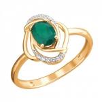 Золотое кольцо с агатом 01К4112096Р-1