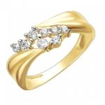 Золотое кольцо с фианитами 01К1312207Р