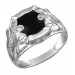 Серебряный перстень печатка 01Т1511707Э-1