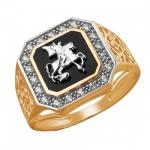 Перстень печатка из золота 01Т4611719-1
