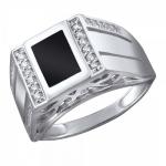 Серебряный перстень печатка 01Т4511716-1