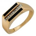 Перстень печатка из золота 01Т463782-1