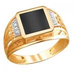 Перстень печатка из золота 01Т4111712-1