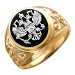 Перстень печатка из золота 01Т465223Ж-1