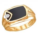 Перстень печатка из золота 01Т1111715Э