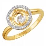 Кольцо из золота с фианитами 01К1311863Р